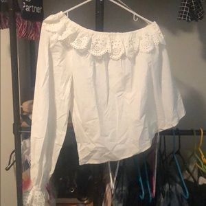 Joie one sleeve white blouse